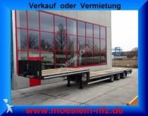 semi remorque Moeslein 3 Achs Tieflader für Fertigteile, Baumaschinen,