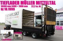 semi remorque Müller-Mitteltal TS2/IDEAL FÜR STAPLER und bühnentransport /RAMPE