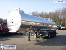 semi remorque Maisonneuve Chemical tank inox 32.5 m3 / 1 comp
