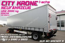 semi remorque Krone SEP 10/CITY GARDINE LBW 2000 kg DAUTEL TRIDEC !!