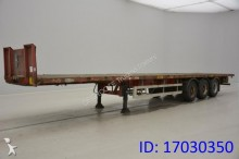 semi remorque Van Hool Flatbed w/ Twistlocks Steel suspension