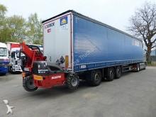 semi remorque Schmitz Cargobull SCB S3T Met Manitou TMT 25S DRAAIAS/DREHACHSE/ES