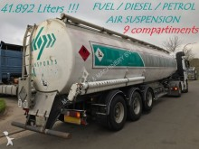 semirimorchio Trailor fuel tanker - 9 COMPARTIMENTS - AIR SUSP. - 42.0