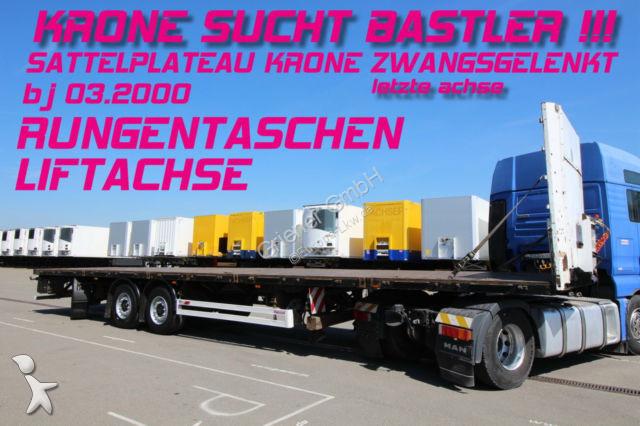Rub Baustoffe used krone flatbed semi trailer sdp 27 sattelplateu baustoff