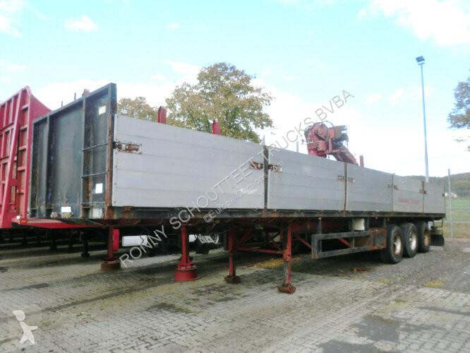 Semi remorque Pacton TXD 336 PACTON (NL) TXD 336 mit Kran HIAB R110 F2