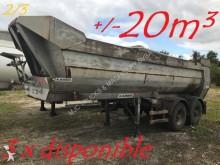 semirremolque Robuste Kaiser 2-ess. BENNE - ACIER / ACIER - 20m³ - Français