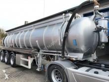 semirimorchio Schrader 3-Achs 22,5m³ Saug u.Druck Chemie-Auflieger V2A