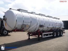semi remorque Van Hool Chemical tank inox 36.5 m3 / 4 comp.