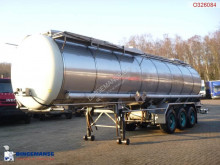Burg Chemical tank inox 31.2 m3 / 1 comp semi-trailer