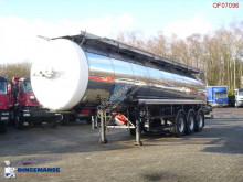Feldbinder Chemical tank inox 30 m3 / 1 comp + heating semi-trailer