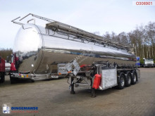 Clayton Chemical/Oil tank inox 30 m3 / 8 comp + pump/counter semi-trailer