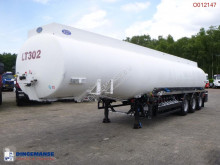 Indox Fuel tank alu 42 m3 / 6 comp + pump semi-trailer