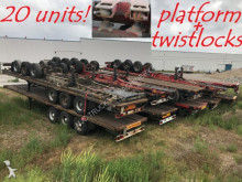Van Hool 20x PLATFORMS + TWISTLOCKS - 2x 20ft / 40ft - BPW axles - AIR SUSP semi-trailer