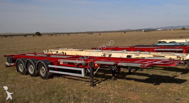 semi remorque porte containers occasion fruehauf chassis 40 45 pieds cont et caisse mobile. Black Bedroom Furniture Sets. Home Design Ideas