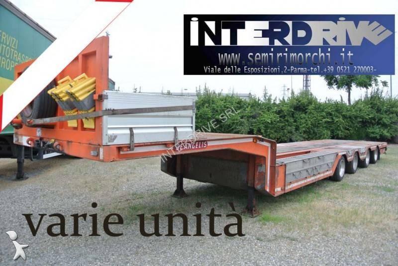 Trasporto macchinari De Angelis semirimorchio carrellone buche abbassamenti 4assi
