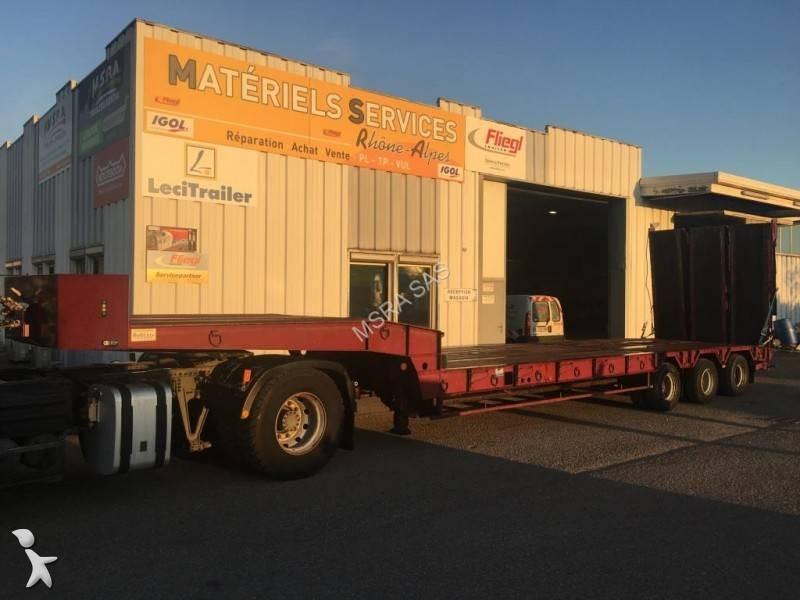 Semi Remorque Leveques Porte Engins PorteEngins Essieux - Porte engin occasion 2 essieux