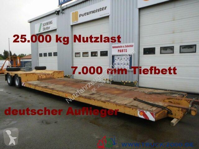 Voir les photos Semi remorque Scheuerle Tiefbett-brücke 7 m Höhe 52 cm  * 25t. Nutzlast