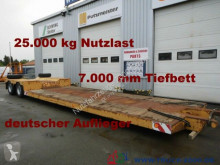 semi remorque Scheuerle Tiefbett-brücke 7 m Höhe 52 cm * 25t. Nutzlast