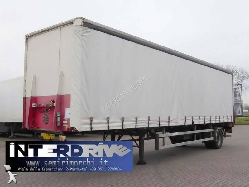 Groenewegen semirimorchio centinato monoasse 10m sponda usato semi-trailer