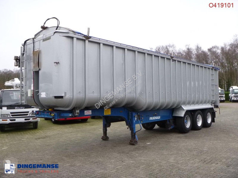 Semi remorque Fruehauf Tipper trailer alu 53.5 m3