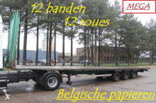 Van Hool 3-AS MEGA / LOWDECK TRAILER - 12 TIRES - 245/70R19.5 - TIRES 80% - ROR - BELGIAN PAPERS semi-trailer
