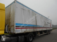 Trouillet Oplegger closed box semi-trailer