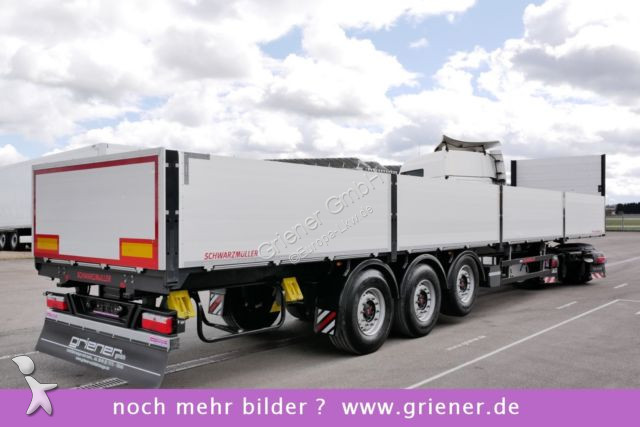 Rub Baustoffe used schwarzmüller flatbed semi trailer s1 baustoff