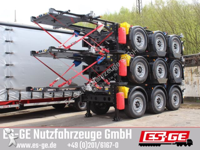 Krone 3-Achs-Containerchassis 20ft semi-trailer