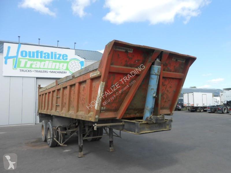 Trouillet benne/tipper - 8 roues/tyres semi-trailer