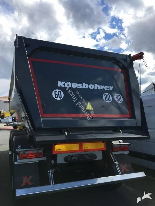 Semirimorchio Kässbohrer BENNE ACIER PORTE AR HYDRAULIQUE 27 m3 DISPO RAPIDEMENT