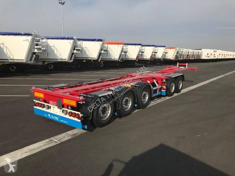 Semi Remorque Porte Containers Plus De 3 Essieux Hauteur Standard