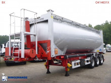 Van Hool Container trailer + Feldbinder food tank alu 40 m3 (tipping) semi-trailer