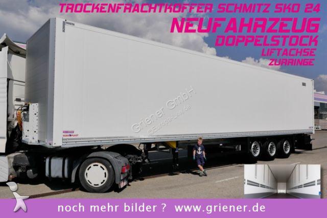 Schmitz Cargobull SKO 24/ DOPPELSTOCK / ZURRLEISTE /LIFTACHSE  semi-trailer