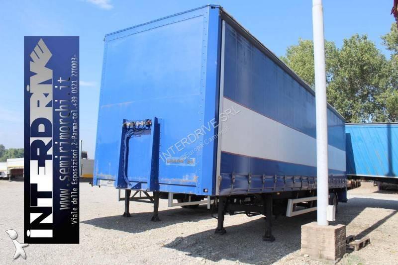 Tirsan semirimorchio centinato sponda monoasse 10.50m usato semi-trailer