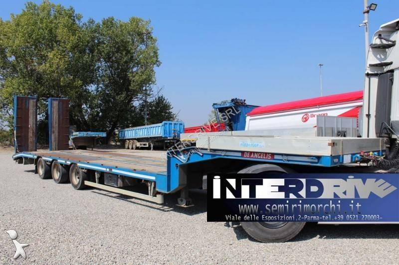 Trasporto macchinari De Angelis semirimorchio carrellone pianale rampe usato