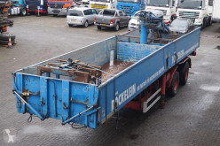 trailer Langendorf Open met kraan 2-assig flatbed with crane