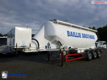 Feldbinder Powder tank alu 36 m3 + compressor semi-trailer