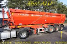 n/a 33m² ALU KIPPER - SCHIJFREMMEN - WEEGSCHAAL - CENTR SMERING - STUURAS - ZEER NETTE KIPPER semi-trailer