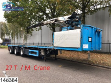 semi reboque KWB open laadbak 47000 KG, Kennis R 27 / 85 crane, 27 T / M, Rotator