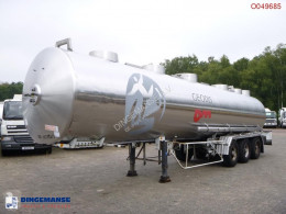 Magyar Chemical tank inox 32.6 m3 / 1 comp semi-trailer