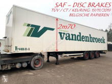 Van Hool 3-AS GESLOTEN BAK - CLOSED BOX - CAISSE FERMEE - SAF DISC / SCHIJFREMMEN - PAPIERS BELGES - CT 19/11/2019 semi-trailer
