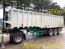 semi remorque LAG 33m³ BENNE CLINKER - 3 ESS. BPW - CHASSIS ACIER / BENNE ALU - SUSP. AIR - STEEL CHASSIS / ALU TIPPER - AIR SUSP