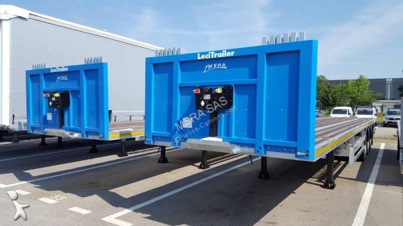 Semi remorque Lecitrailer Plateau Porte-Containers Renforcé et Galvanisé