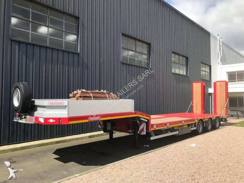 Voir les photos Semi remorque Nooteboom 3 essieux - revêtement bois - Essieu suiveur - Dispo mi juillet 2019