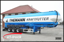 semi remorque Feldbinder EUT 60,3 Silo Futter, 4 Kammern Lenkachse