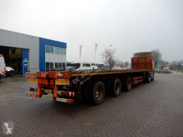 Nooteboom Flat trailer / Extendable / Double montage / 3x steering axle / twislocks semi-trailer