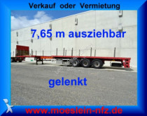 semi reboque nc 3 Achs Tele Auflieger, 7,65 m ausziehbar, gelen
