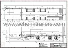 trailer Schenk 3-Achs Semi-Auflieger mit Radmulden Extra Leicht, Mech. Alu-Ram