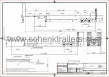 naczepa Schenk 2 axle low loader lightweight construction independent wheel sus