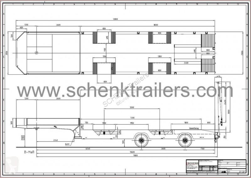 Voir les photos Semi remorque Schenk 2 axle semi-trailer low loader2x forced steering, double hydr. R